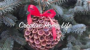 diy craft acorn top decorative ball ornament youtube