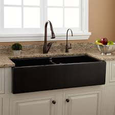 sinks stone kitchen sinks signature hardware intended for divided