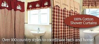 Country Themed Shower Curtains Country Shower Curtains For The Bathroom Engem Me