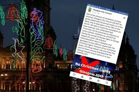glasgow city council forced to confirm christmas lights switch on