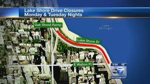 Chicago Traffic Maps by Lake Shore Drive Lane Closures Begin Abc7chicago Com