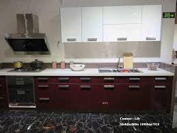 china l shape design small plan uv kitchen cabinet fy3452 photos
