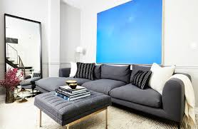 Luxury Bedroom Set With Glass Blue Poles A Chill New York Apartment For Two Djs U2013 Homepolish