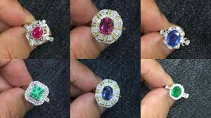 ruby emerald rings images Gold wedding rings with real diamonds ruby emerald and sapphire jpg