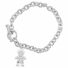 name charm bracelet boy s name and birthstone charm bracelet in sterling silver 1