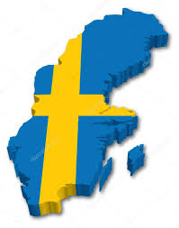 Flag Sweden 3d Sweden Map With Flag U2014 Stock Vector Tangducminh 10562646