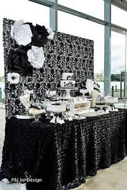 Black white party decorations Party decorations