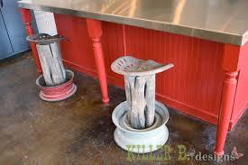 Tractor Seat Bar Stool Rustic Tractor Seat Bar Stools Killer B Designs
