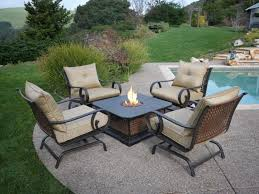 Small Outdoor Patio Furniture Considering Patio Table With Fire Pit Fleurdujourla Com Home