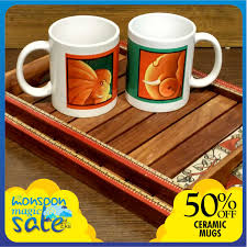 limited edition of designer ceramic mugs exclusive to eka choose