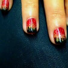 shellac manicure designs flame via dawn van haaften nail