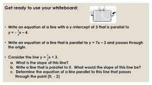 Graphing X And Y Intercepts Worksheet Parallel And Perpendicular Lines What Is The Slope And The Y
