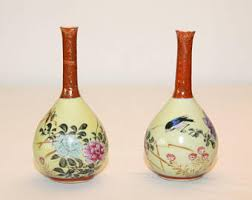 Japanese Kutani Vases Kutani Etsy