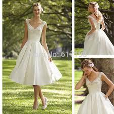 50s vintage inspired pocket wedding dress a line wedding gown tea
