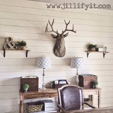 Installing Shiplap Remodelaholic How To Install A Shiplap Wall Rustic Home Office