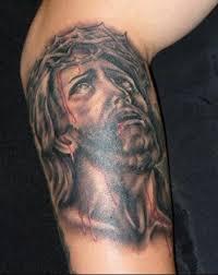 bleeding jesus portrait design 3 1 tattoo tattoos book 65 000