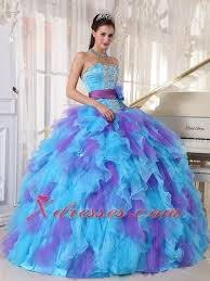 baby blue quinceanera dresses baby blue and purple gown strapless floor length organza