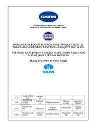 method statement for tank jack lifting 2 docx docx scaffolding