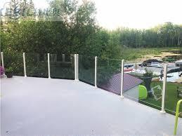 or powder coating aluminum 6063 t5 glass balcony railing square