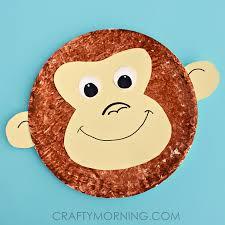 Paper Plate Monkey Craft - paper plate monkey craft idea crafty morning