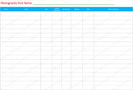 Excel List Templates List Template 6 Free Lists For Word And Excel