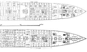 titanic floor plan plans