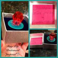 ring pop bridesmaid invite how do you ask one of your oldest childhood friends to be your