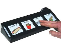 Assistive Technology For The Blind Aac Devices Augmentative Communication Communication Board