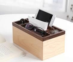 Desk Organizer Box Wooden Multi Function Desk Organizer Tissue Box Storage Box Feelgift