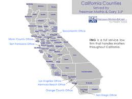 counties map locations california counties map