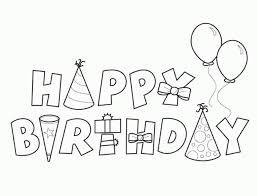 happy birthday clering sheet coloring pages holidays printable