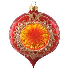floral reflector blown glass ornament specialty ornaments hallmark