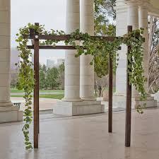 wedding arch no flowers calla ceremony flowers calla