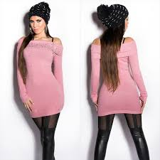 trendy sweater with pearls rhinestones and decorative zip from