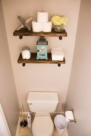 The Powder Room The Powder Bathroom How To Make Industrial Floating Shelves The