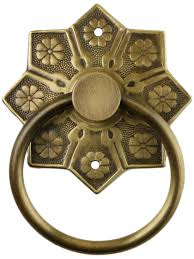 Antique Brass Kitchen Hardware by Vintage Cabinet Pulls Eastlake Star Pattern Ring Pull In Antique