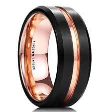 mens wedding bands black 8mm unisex or men s wedding band mens wedding rings black matte