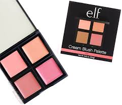smashbox light it up blush palette e l f cream blush palette in soft review and swatches glam up girls