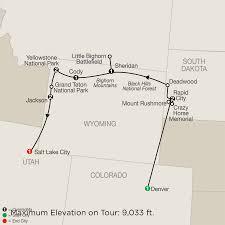 Utah National Park Map by Guided National Parks U0026 Denver Tour Globus