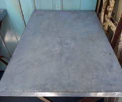 Zinc Top Bar Table Pair Zinc Industrial Side Tables Omero Home