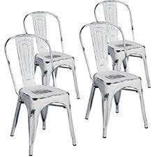 Tolix Bistro Chair Amazon Com Poly And Bark Trattoria Side Chair In White Set Of 4