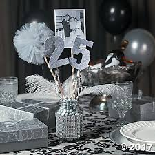 anniversary party mason jar centerpiece idea