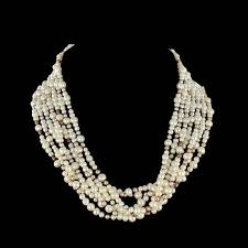 pearl necklace with diamond images Combination pearl necklace and 1960s diamond brooch clip for sale jpg