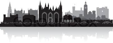 peterborough city skyline silhouette vector illustration stock