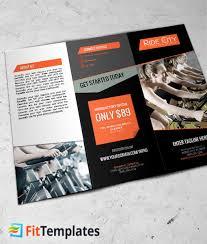 2 fold brochure template indoor cycling tri fold brochure template