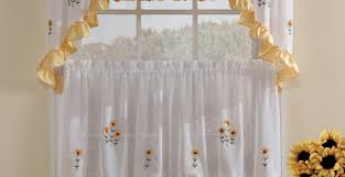 Sunflower Valance Curtains Sunflower Curtains For Kitchen Sunflower Valances At Sears