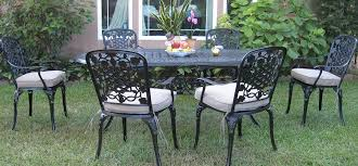 Aluminum Patio Dining Set Outdoor Cast Aluminum Patio Furniture 7 Dining