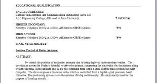 resume format for freshers electronics and communication engineers pdf free download electronic engineer resume format