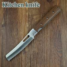 serrated kitchen knives xinzuo 440a pocket folding kitchen chef knife serrated toast bread