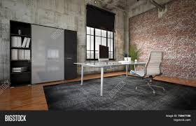 Modern Brick Wall by 3d Rendering Of Commercial Office In A Modern Interior With A